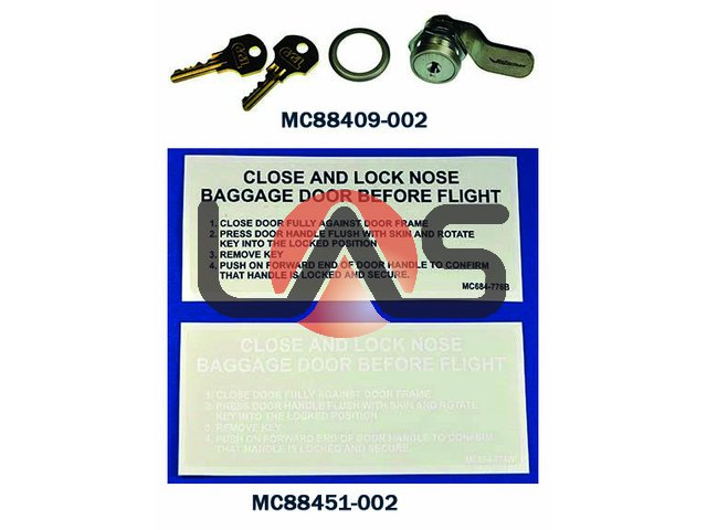 Nosecone Baggage Door Latch/Lock Kits